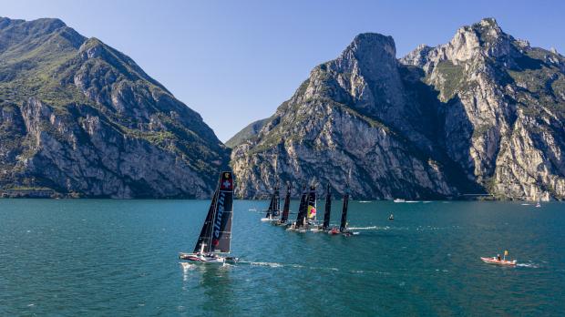 GC32 RIVA CUP, Lago di Garda, Italy. Jesus Renedo/Sailing Energy/GC32 Racing Tour. 14 September, 2017.