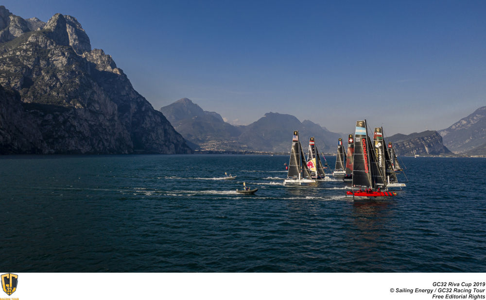 GC32 RIVA CUP, Lago di Garda, Italy. Jesus Renedo/Sailing Energy/GC32 Racing Tour. 14 September, 2017.